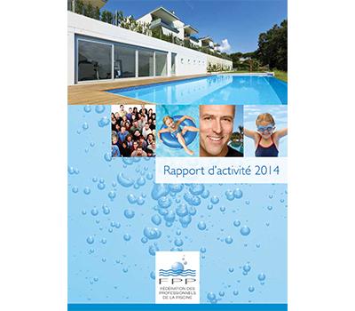 photo de couverture avec une piscine du rapport annuel propiscines