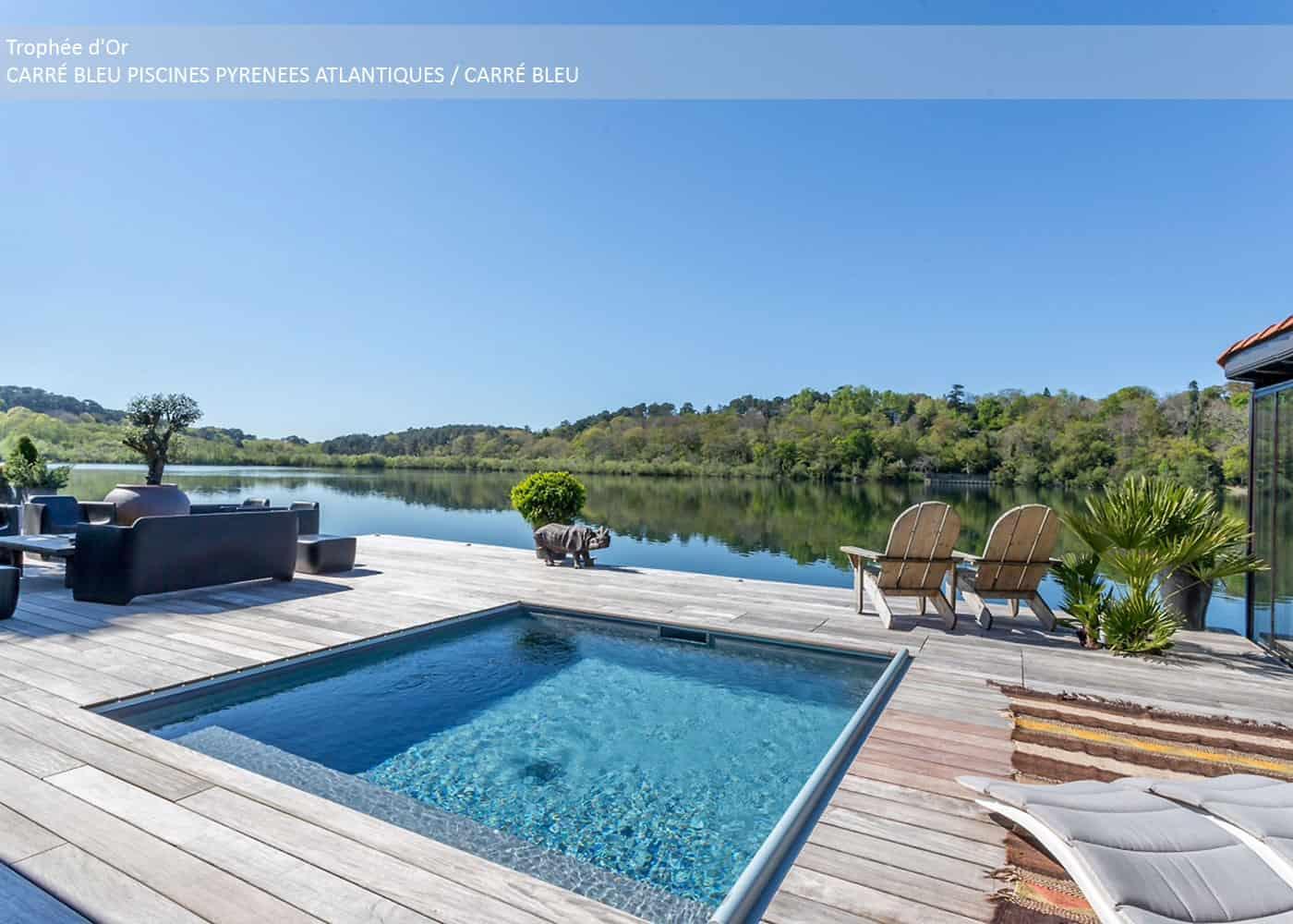 Découvrez les piscines de moins de 10m² lauréates des Trophées de la Piscine et du Spa 2018