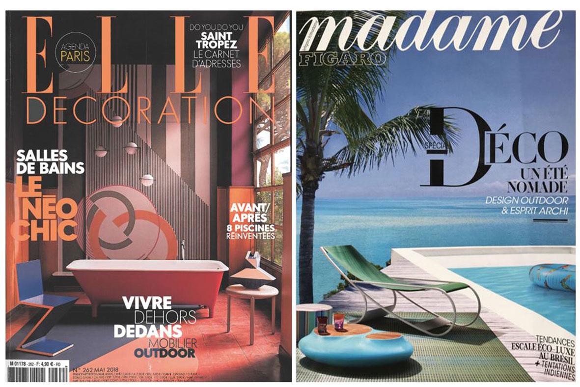 Les piscines : vedettes de la presse magazine