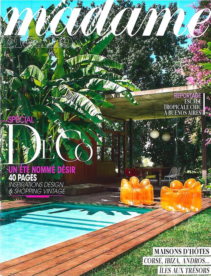 Madame Figaro : une piscine exotique en 1ère de couverture