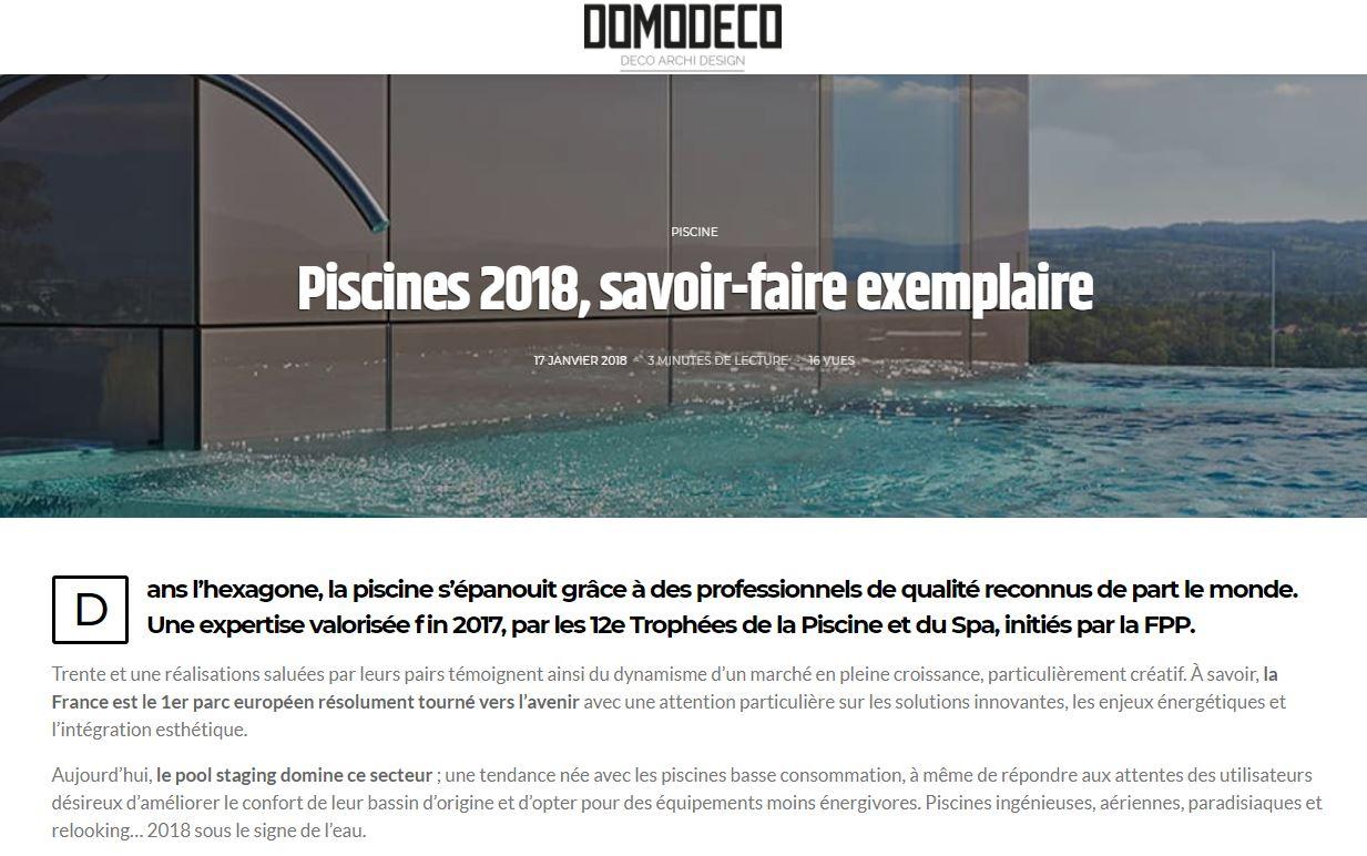 A découvrir, de belles piscines présentées dans un magnifique article de Domodeco.fr