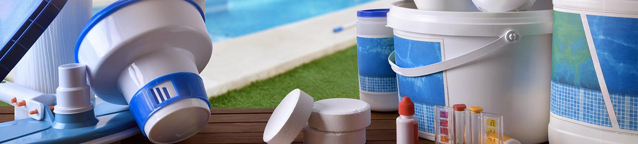 ensemble des produits de traitement ou des systèmes de filtration existant pour une piscine