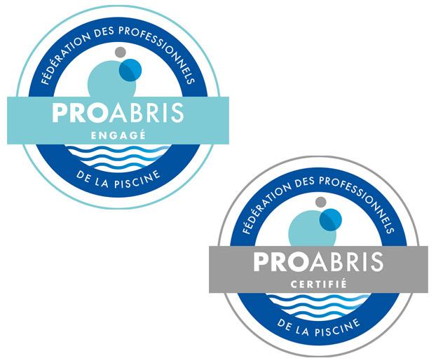 image avec les deux logo proabris : proabris engagé et proabris certifié