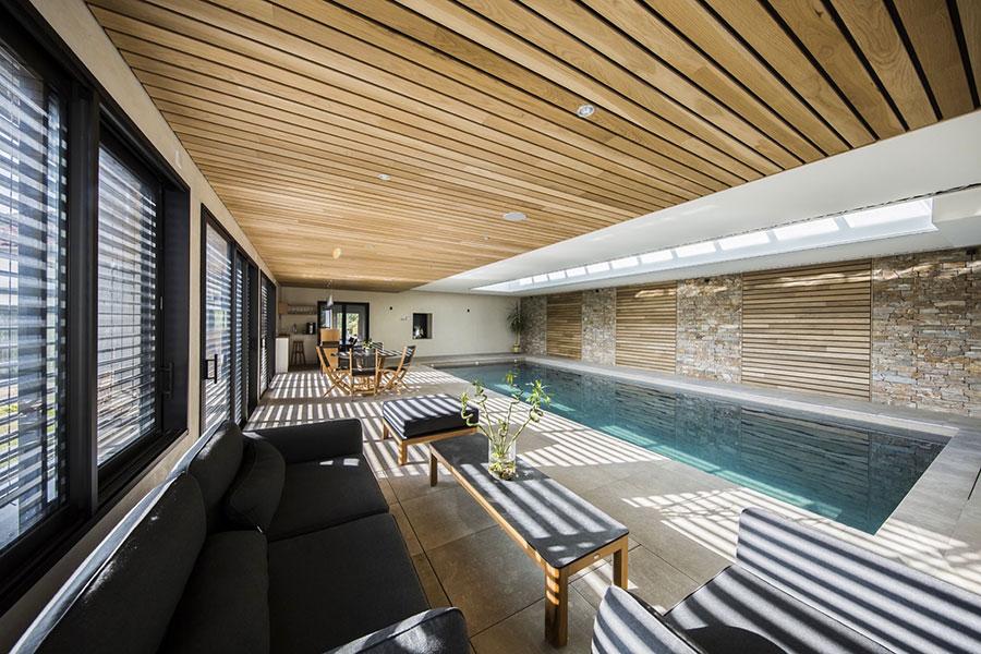Piscine intérieure lauréate des Trophées de la piscine 2018 catégorie piscine d'exception