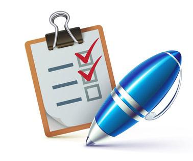 Image montrant une check list avec un stylo et symbolisant les étapes à suivre pour un hivernage réussi de sa piscine