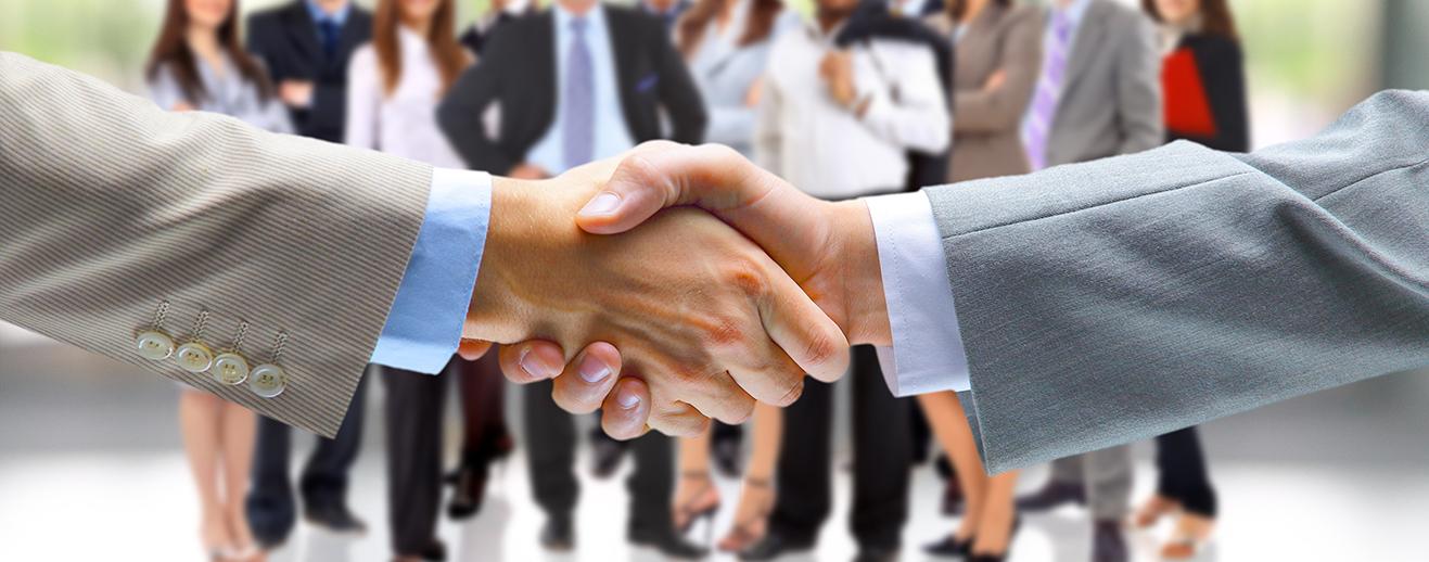 Photo d'une poignée de main illustrant les partenaire de la FPP